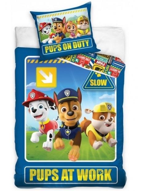 Detské bavlnené obliečky Tlapková patrola - PAW PATROL - PUPS AT WORK