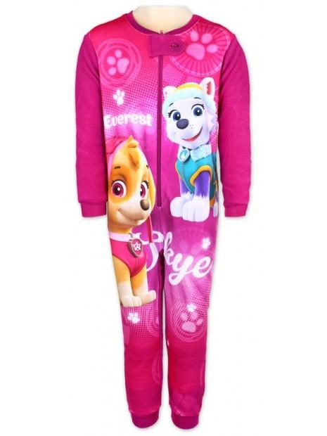 Dievčenské zimné pyžamo overal Tlapková patrola - Paw Patrol - Skye a Everest - ružové