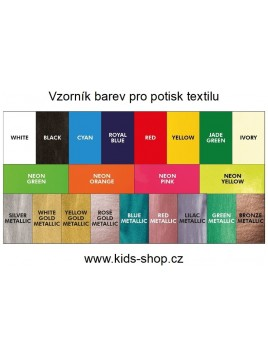 Vzorkovník farieb pre potlač textilu