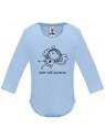 Modré dojčenské body s dlhým rukávom - Som váš anjelik