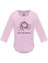 Růžové kojenecké body s dlouhým rukávem - Jsem váš andílek