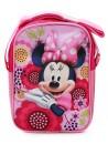 Dívčí růžová taštička přes rameno (Cross) s licenčním obrázkem krásné myšky Minnie. Taška má jednu kapsu se zapínáním na zip a délkově nastavitelný popruh.