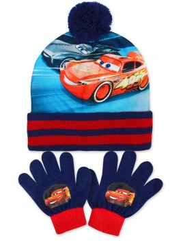 Chlapecká čepice a prstové rukavice s bleskem McQueen - Auta / Cars