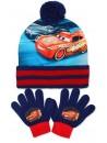 Chlapčenský set čiapka s brmbolcom a prstové rukavice, poteší a zahreje každého obdivovateľa Blesk McQueen z rozprávky Cars - Autá.