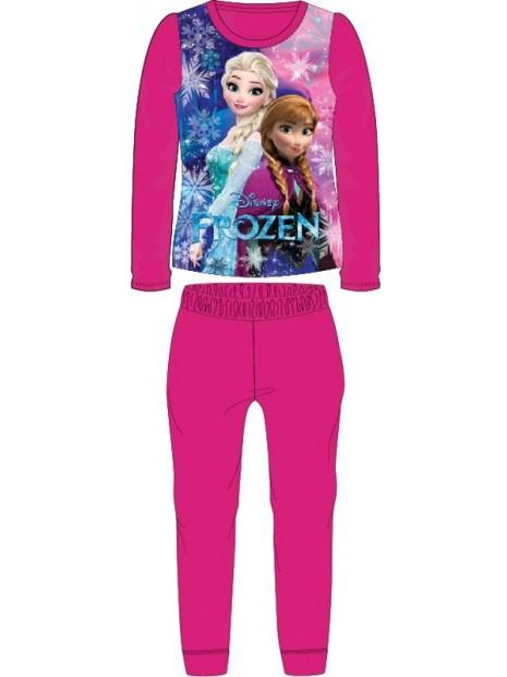 Dívčí pyžamo Ledové království Frozen - tm. růžové