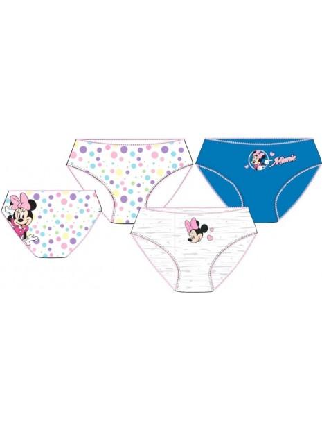 Dívčí bavlněné kalhotky Minnie Mouse - 3ks