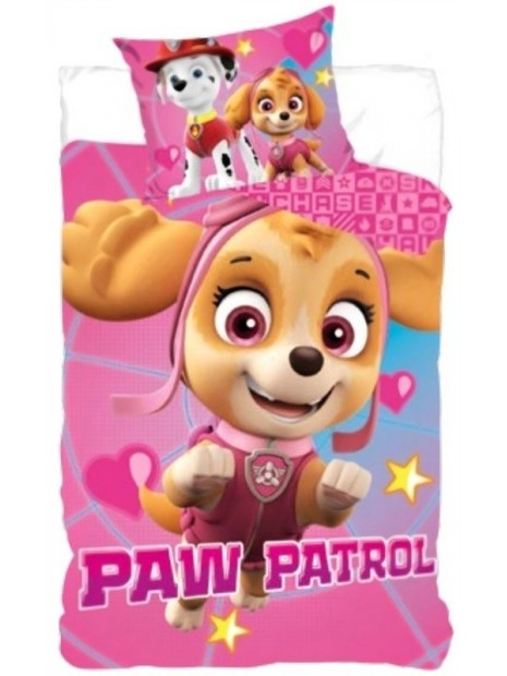 Dětské bavlněné povlečení Tlapková patrola pro holky - Paw Patrol - Skye