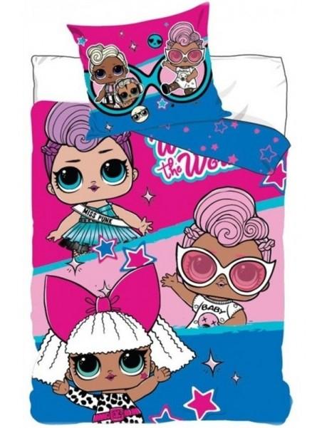 Detské posteľné bavlnené obliečky L.O.L. Surprise!