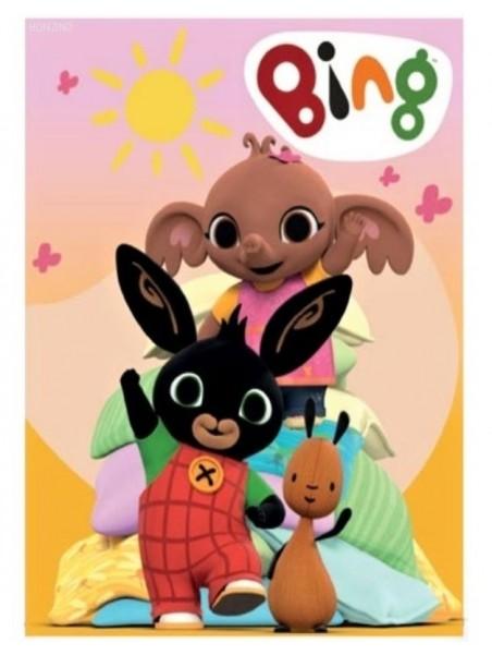 Detská fleecová deka zajačik Bing, Flop a Sula