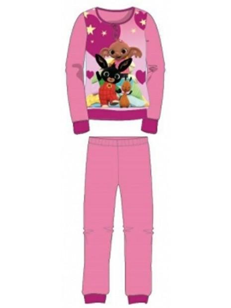 Dívčí bavlněné pyžamo králíček Bing - tm. růžové