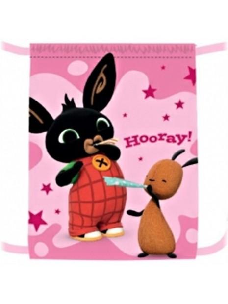 Vrecko na prezúvky Zajačik Bing - ružový