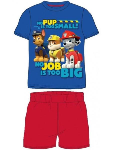 Letní chlapecké pyžamo Tlapková patrola (Paw Patrol) - modré