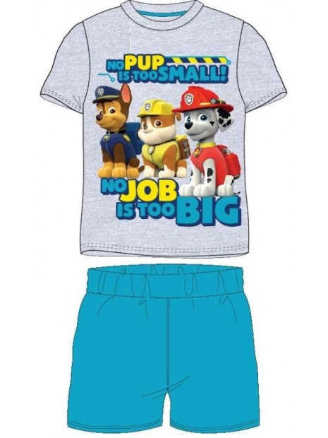 Letní chlapecké pyžamo Tlapková patrola (Paw Patrol) - šedé