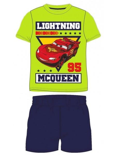 Letné chlapčenské pyžamo s krátkym rukávom Autá McQueen (Cars) - zelené