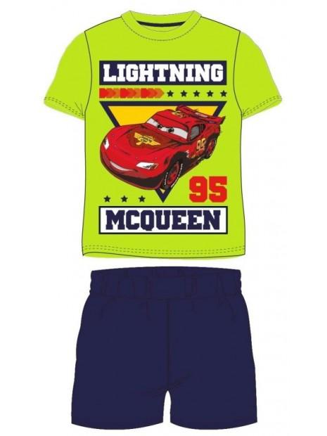 Letní chlapecké pyžamo s krátkým rukávem Auta McQueen (Cars) - zelené