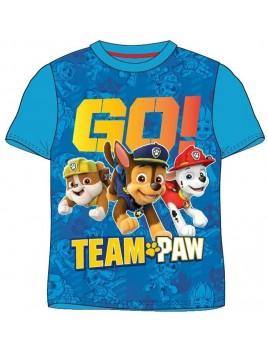 Chlapecké tričko s krátkým rukávem Tlapková patrola - Team Paw Patrol - modré