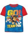 Chlapecké tričko s krátkým rukávem Tlapková patrola - Team Paw Patrol - červené