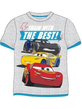 Chlapecké tričko s krátkým rukávem Auta McQueen (Cars) - šedé