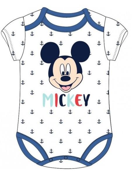 Kojenecké body s krátkým rukávem Mickey Mouse - Disney - bílé