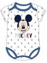 Dojčenské body s krátkym rukávom Mickey Mouse - Disney - biele