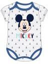 Dojčenské body s krátkym rukávom Mickey Mouse - Disney - šedé
