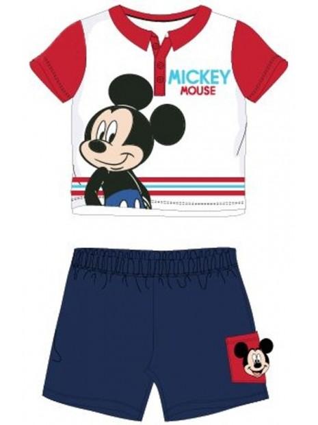 Dojčenský letné set Mickey Mouse - Disney - červený