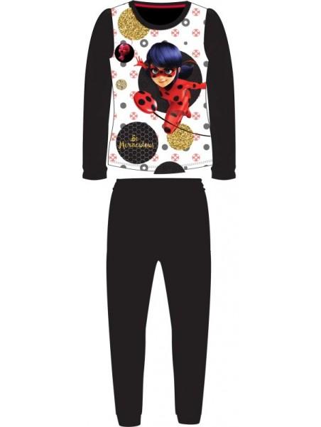 Dívčí pyžamo Kouzelná beruška / Ladybug - černé