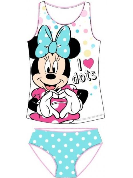 Dievčenská spodná bielizeň - košieľka a nohavičky Minnie Mouse ❤ - biele