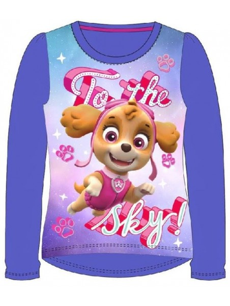Dívčí tričko s dlouhým rukávem Tlapková patrola / Paw Patrol - fialové