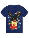 Chlapecké tričko s krátkým rukávem Zajíček Bing - tm. modré