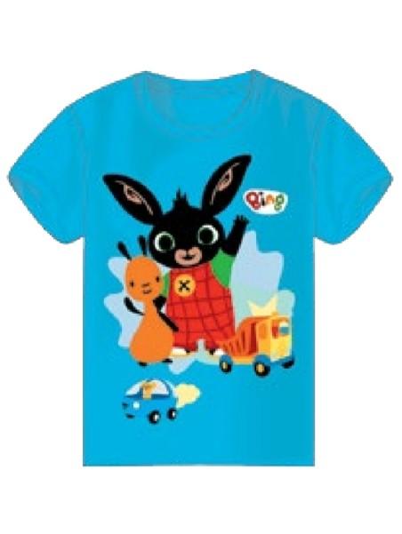 Chlapčenské tričko s krátkym rukávom Zajačik Bing a Flop - modré