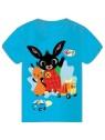 Chlapecké tričko s krátkým rukávem Zajíček Bing a Flop - modré
