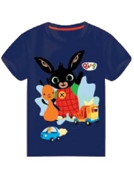 Chlapčenské tričko s krátkym rukávom Zajačik Bing a Flop - tm. modré