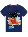 Chlapecké tričko s krátkým rukávem Zajíček Bing a Flop - tm. modré