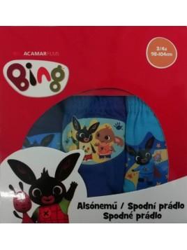 Chlapčenské bavlnené slipy zajačik Bing - bal. 3 ks