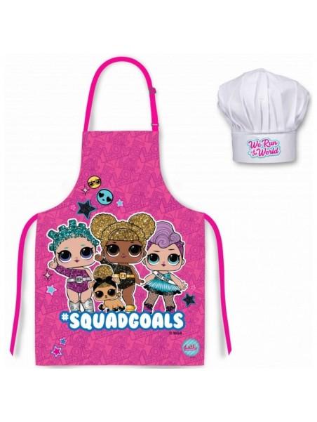 Dětská zástěra a kuchařská čepice L.O.L Surprise