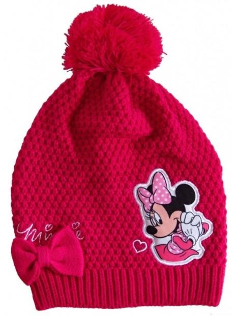 238281e563e Dívčí zimní čepice s bambulí a motivem Minnie Mouse (disney)