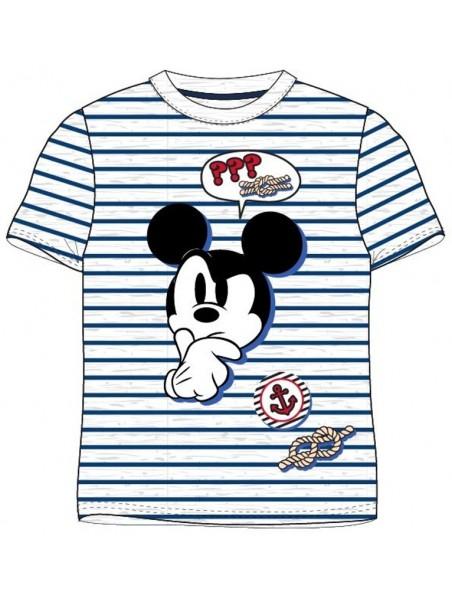 Chlapčenské námornícke tričko s krátkym rukávom Mickey Mouse - šedé
