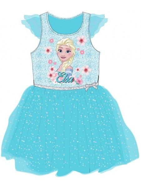 Dievčenské šaty Ľadové kráľovstvo (Frozen) - modré