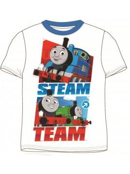 Chlapecké tričko s krátkým rukávem Mašinka Tomáš - bílé