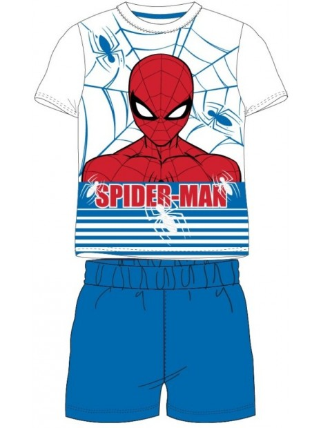 Chlapčenské letné pyžamo Spiderman - modré
