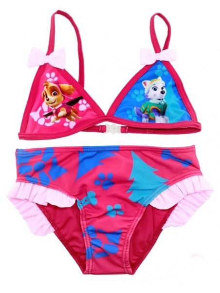 Dievčenské dvojdielne plavky Tlapková patrola PAW PATROL - tm. ružové