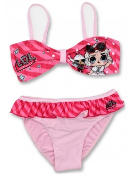 Dievčenské dvojdielne plavky L.O.L. Surprise - sv. ružové