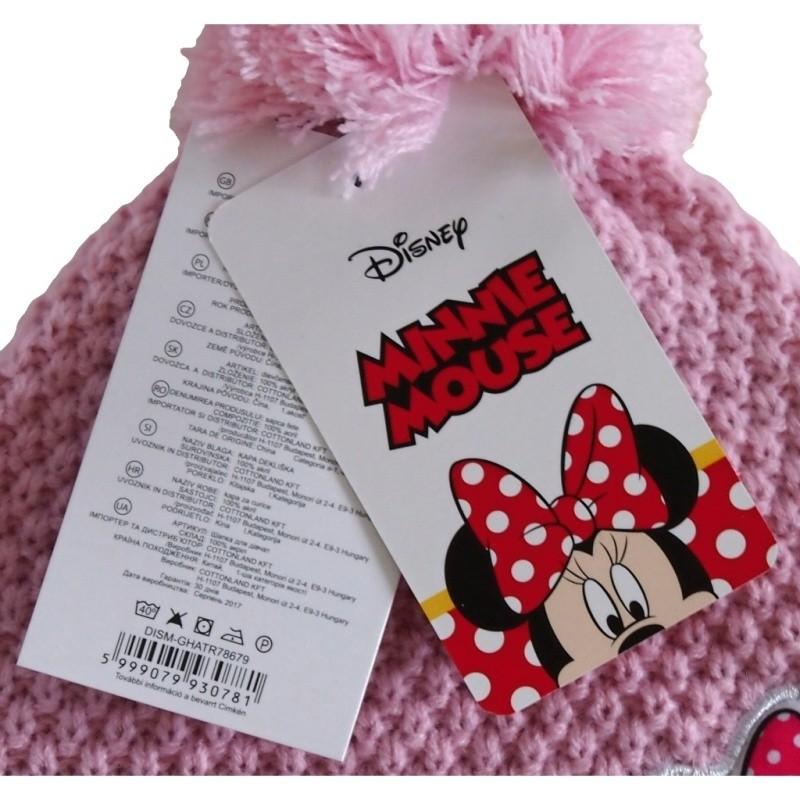 9583ee22429 Dívčí zimní čepice s bambulí a motivem Minnie Mouse (Disney)