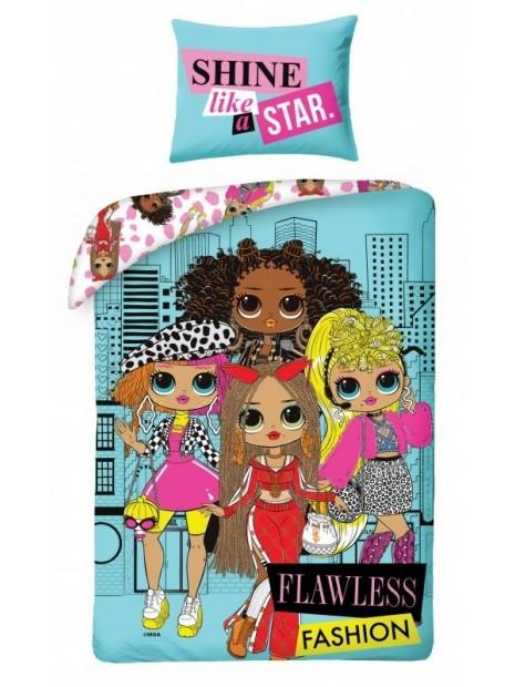 Detské posteľné bavlnené obliečky L.O.L. Surprise OMG - veľká ségra