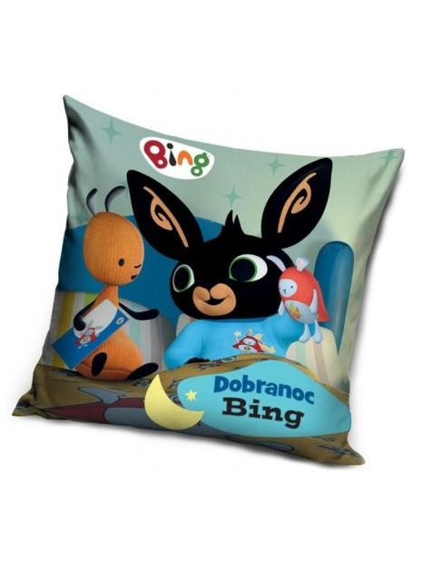 Dětský povlak na polštář zajíček Bing a Flop - dobrá noc