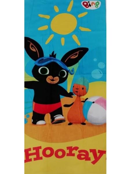 Dětská bavlněná osuška zajíček Bing a Flop