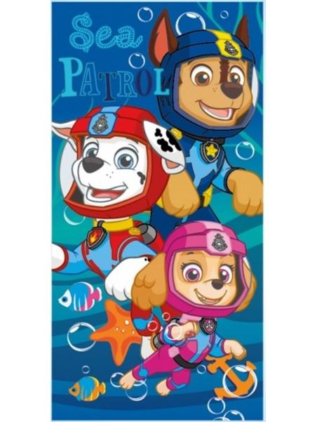 Dětská bavlněná plážová osuška Tlapková patrola / Paw Patrol - potápěči