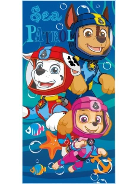 Detská bavlnená plážová osuška Tlapková patrola / Paw Patrol - potápači