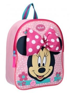 Dětský batoh Minnie Mouse s mašlí - růžový